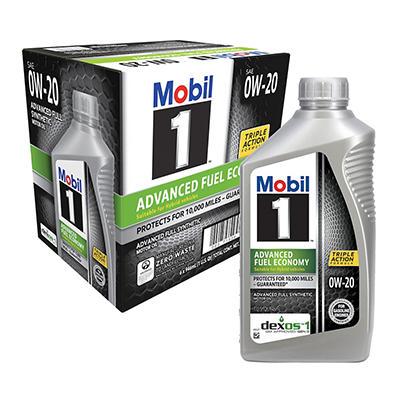 Mobil 1 0W- 20 Advanced Fuel Economy Motor Oil - 1 qt. bottles - 6 pk.