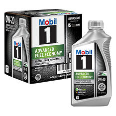 Mobil 1 0W- 20 Advanced Fuel Economy Motor Oil - 1 qt. bottles - 6 pk.