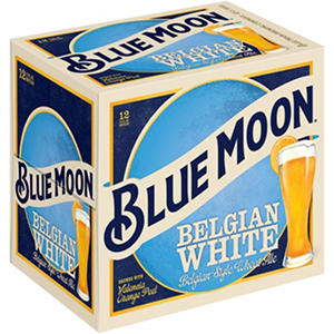 Blue Moon Belgian White Ale (12 oz. bottles, 12 pk.)