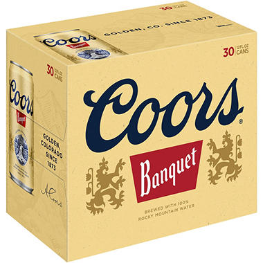 Coors Banquet Beer (12 fl. oz. can, 30 pk.)