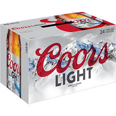Coors Light Beer - 12 oz. - 24 pk.