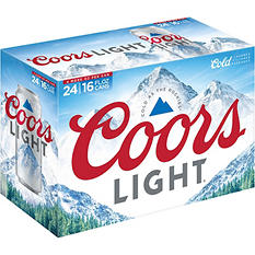 Coors Light Beer (16 fl. oz. can, 24 pk.)