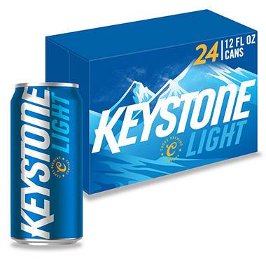 KEYSTONE LIGHT 24 / 12 OZ CANS