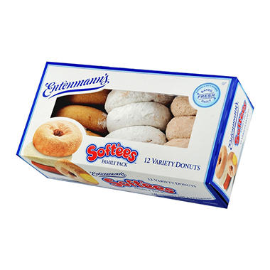 Entenmann's Softees Variety Donuts - 18.5 oz. - 12 ct.