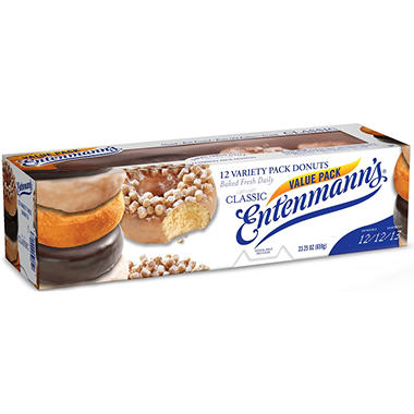Entenmann's Variety Donuts - 23.25 oz. - 12 ct.