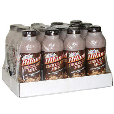 Hiland Chocolate Milk - 1 pint bottles - 12 ct.