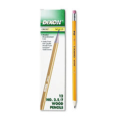 Dixon - Oriole Woodcase Pencil, F #2.5, Yellow Barrel -  12 Pack