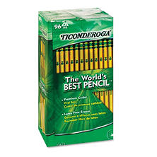 Ticonderoga Woodcase Pencil, HB #2, Yellow Barrel, 96ct.