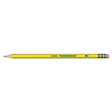 Ticonderoga - Woodcase Pencil, HB #2, Yellow Barrel - 12 Pencils