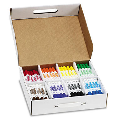 Dixon Washable Markers, 8 Assorted Colors, 200 Markers/Carton