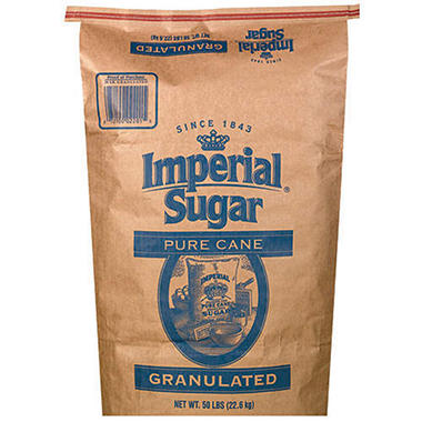Imperial Pure Cane Extra Fine Granulated Sugar - 50 lbs.