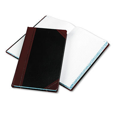 "Boorum & Pease - Record/Account Book, Black/Red Cover, 300 Pages - 14 1/8"" x 8 5/8"""