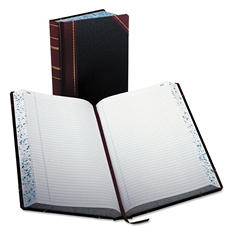 "Boorum & Pease - Record/Account Book, Record Rule, Black/Red, 500 Pages - 14 1/8"" x 8 5/8"""