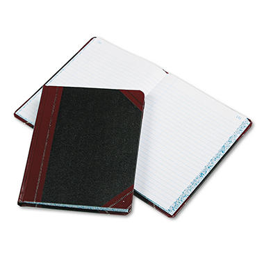 "Boorum & Pease - Record/Account Book, Record Rule, Black/Red, 300 Pages - 9 5/8"" x 7 5/8"""