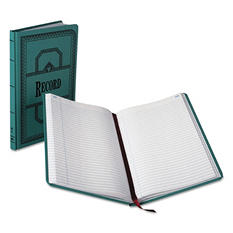 """Boorum & Pease - Record/Account Book, Record Rule, Blue, 300 Pages - 12 1/8"""" x 7 5/8"""""""