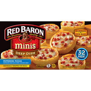 Red Baron Minis Deep Dish Pepperoni Pizzas (44.48 oz., 32 ct.)
