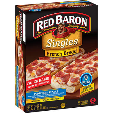 Red Baron� French Bread Pepperoni Pizza - 9 ct.
