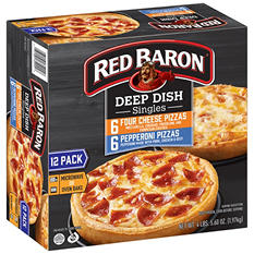 Red Baron Singles Deep Dish Pizza Variety (12 ct.)