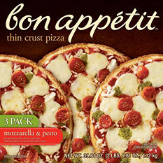 Bon Appetit Mozzarella & Pesto Thin Crust Pizza (39.81 oz., 3 pk.)