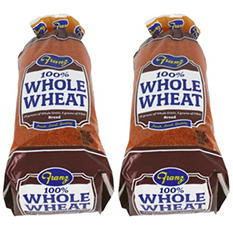 Franz 100% Whole Wheat Bread (2 loaves)