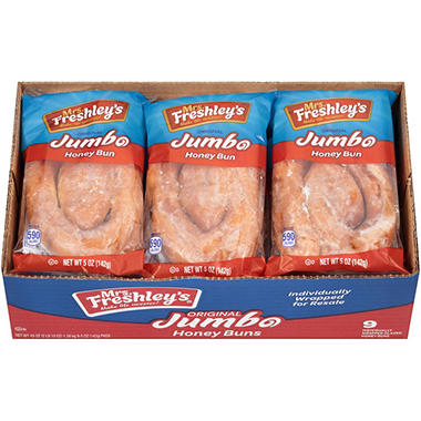 Mrs. Freshley's Jumbo Honey Buns - 9/5 oz.
