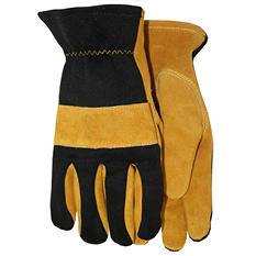 Suede Leather Gloves with Spandex Back - Various Sizes