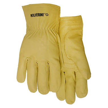 Wolverine Premium Top Grain Cowhide Gloves - Medium - 3 pk.