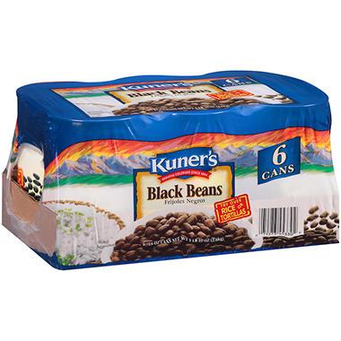 Kuner's Black Beans - 15 oz. cans - 6 ct.
