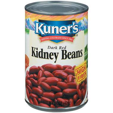 Kuner's Dark Red Kidney Beans - 15 oz. - 6 ct.