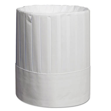 Royal Pleated Chef's Hats, Paper, White, 9