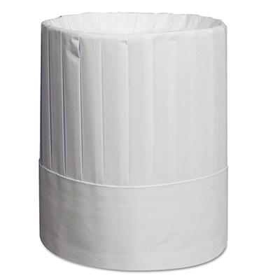 "Royal Pleated Chef's Hats, Paper, White, 9"" Tall (24ct.)"