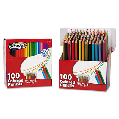 RoseArt - Colored Pencils, Pull'n'Pop Display Pack, 100 Colors -  100/Set