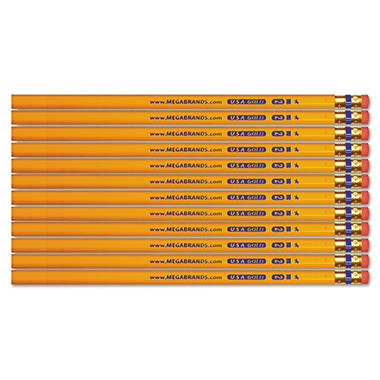 Write Dudes - USA Gold #2 Pencils, Cedar, Yellow - 12 ct.