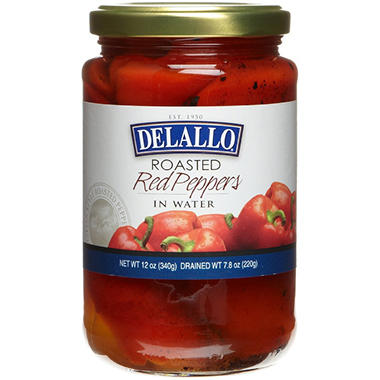 Delallo Roasted Red Peppers - 12 oz. - 3 pk.