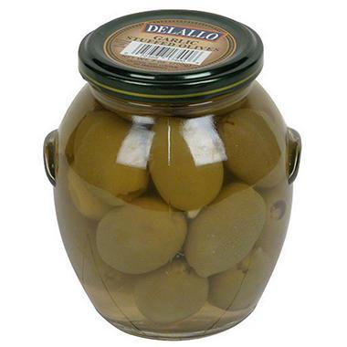 Delallo Garlic Stuffed Olives - 21 oz.