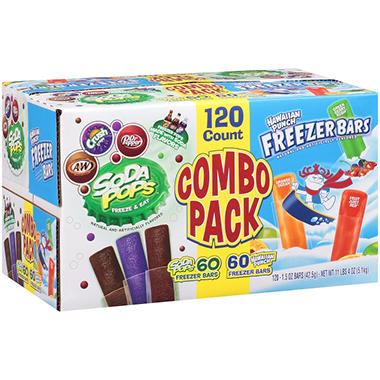 Hawaiian Punch® Soda Pops™ Freezer Bars Combo Pack - 120/1.5 oz.