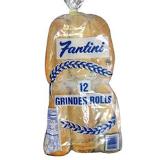 Fantini Bakery Grinder Split Top Rolls - 12 ct