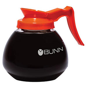 Bunn Commercial Glass Decanter, Orange Handle Decaf (12 cup, 3pk.)