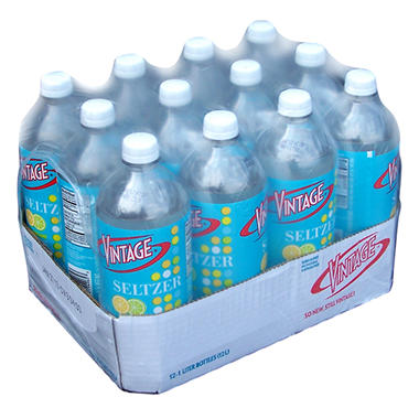 Vintage Seltzer - Lemon Lime - 1L bottles - 12 pk.