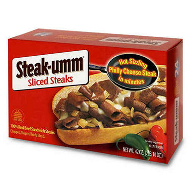 Steak-umm&reg Sliced Steaks - 42 oz.