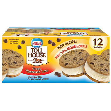 Nestle's Toll House Ice Cream Sandwiches - 12 ct.