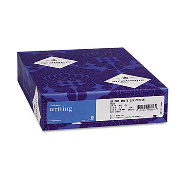 Strathmore - Writing 25% Cotton Fine Paper, 24lb, Ivory - Ream