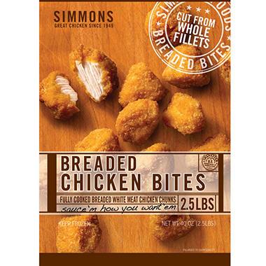 Simmons Breaded Chicken Bites - 2.5 lbs.