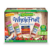 Organic Whole Fruit Frozen Juice Tubes, Variety Pack (24 ct.)