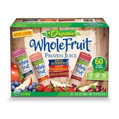 Organic Whole Fruit Frozen Juice Tubes, Variety Pack (24 ct.)