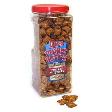 Herr's Peanut Butter Filled Pretzels - 44 oz. jar
