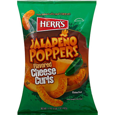 Herr's Jalapeno Poppers Flavored Cheese Curls - 17 oz. - Sam's Club