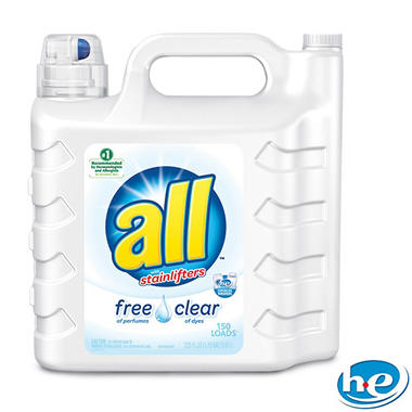 all 2X Ultra with Stainlifter Free & Clear - 225 ozs. - 146 loads