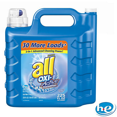 all Oxi-Active Stainlifter Liquid Laundry Detergent - 225 ozs. - 126 loads