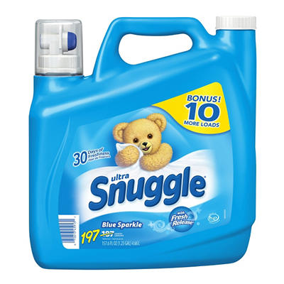 Ultra Snuggle Fabric Softener, Blue Sparkle, 197 loads (157.6oz.)